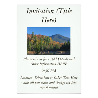 Whiteface Mountain over Little Cherrypatch Pond 11 Cm X 16 Cm Invitation Card