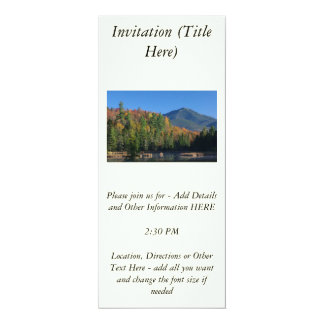 Whiteface Mountain over Little Cherrypatch Pond 10 Cm X 24 Cm Invitation Card