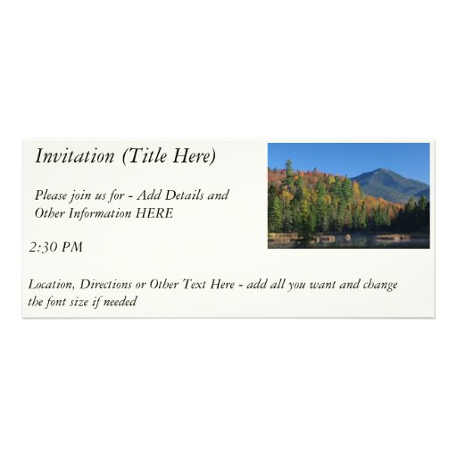 Whiteface Mountain over Little Cherrypatch Pond Invitations