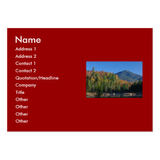 Whiteface Mountain over Little Cherrypatch Pond Pack Of Chubby Business Cards