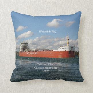 Whitefish Bay square pillow