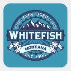 Whitefish Ice Square Sticker