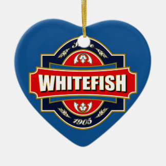 Whitefish Old Label Ceramic Ornament