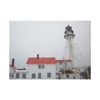 Whitefish Point Lighthouse Canvas Print