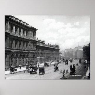 Whitehall, London Poster