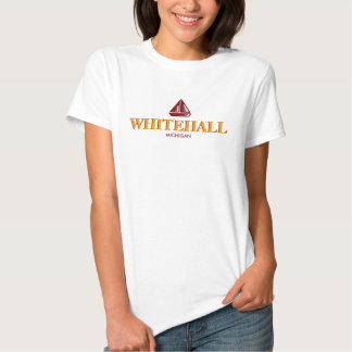 WHITEHALL, MICHIGAN Ladies Baby Doll (Fitted) T-shirt