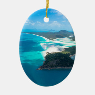 WHITEHAVEN BEACH 2 CERAMIC OVAL DECORATION