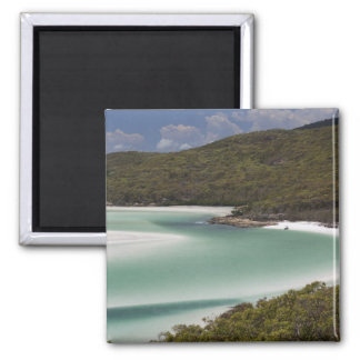 Whitehaven Beach, Hill Inlet, Tounge Point, Square Magnet