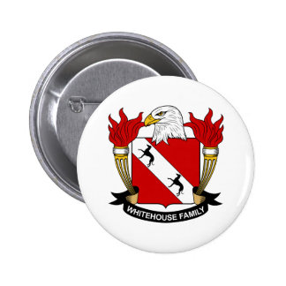 Whitehouse Family Crest Pinback Button