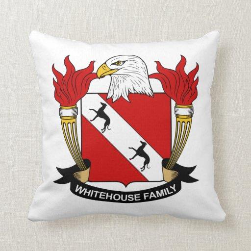 Whitehouse Family Crest Throw Pillows