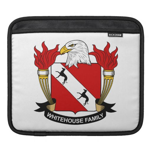 Whitehouse Family Crest iPad Sleeves