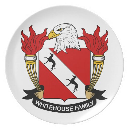 Whitehouse Family Crest Plate