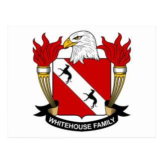 Whitehouse Family Crest Postcard