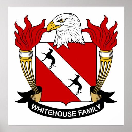 Whitehouse Family Crest Poster