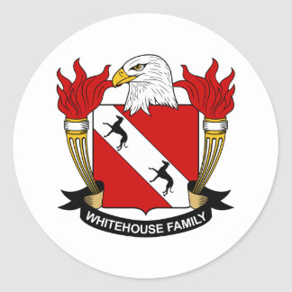 Whitehouse Family Crest Stickers