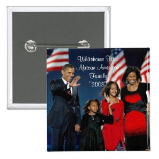 """Whitehouse First African American Family""""... 15 Cm Square Badge"""