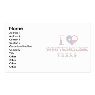 Whitehouse, Texas Business Card Template
