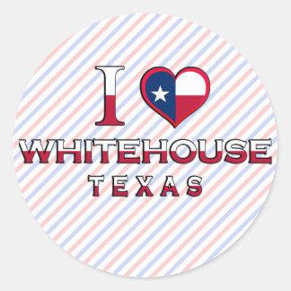 Whitehouse, Texas Round Stickers