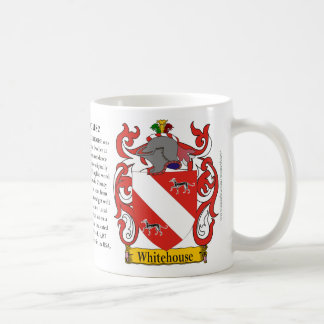 Whitehouse, the Origin, the Meaning and the Crest Basic White Mug