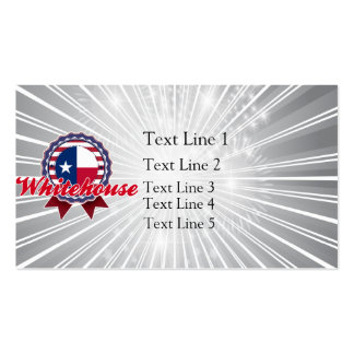 Whitehouse, TX Business Card Templates