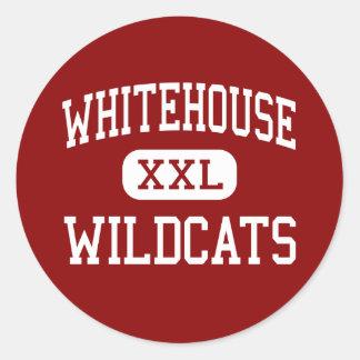 Whitehouse - Wildcats - Junior - Whitehouse Texas Round Sticker