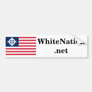 WhiteNation net Bumper Sticker