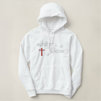 Whiter than Snow Woman's Christian Hoody (white)
