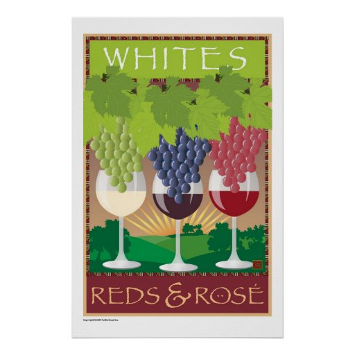 Whites, Reds,& Rosé-Print