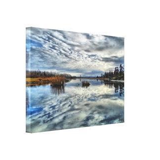 Whiteshell Autumn Reflection Stretch Canvas Print