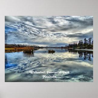 Whiteshell Autumn Reflections Poster Print