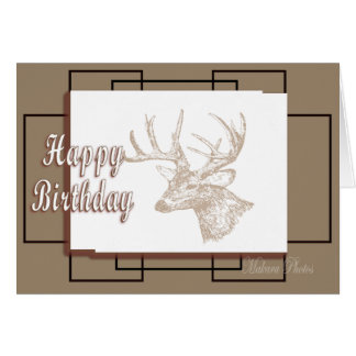 Whitetail Bday-customise Card