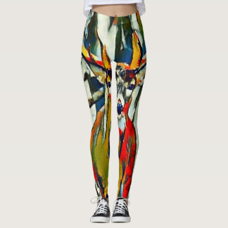 Whitetail Buck Acrylic Artisan Leggings