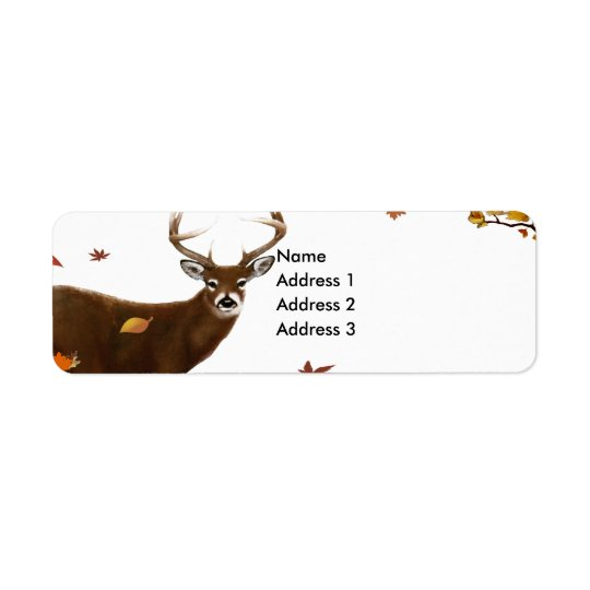 Whitetail Buck Return Address Label