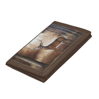 Whitetail Buck Trifold Wallets