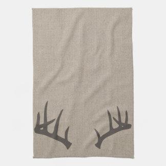 Whitetail Deer Antlers Kitchen Towel