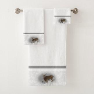 Whitetail Deer Bath Towel Set