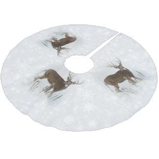 Whitetail deer brushed polyester tree skirt