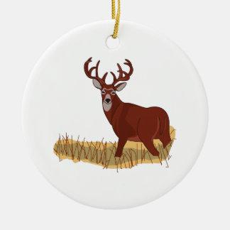 Whitetail Deer Ceramic Ornament