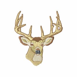 Whitetail Deer Embroidered Hoody