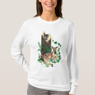 Whitetail Deer Fawn and Racoon Hoodie / Sweatshirt