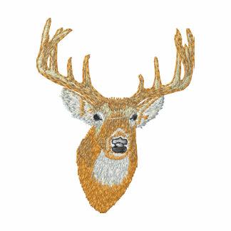 Whitetail Deer Head Embroidered Hoodie