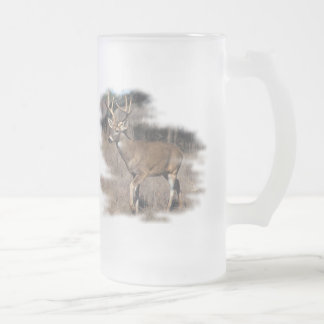 Whitetail deer in the field mug