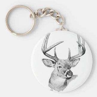 Whitetail Deer Key Ring