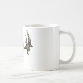 Whitetail deer skull 1 basic white mug