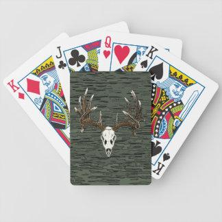 Whitetail deer skull 1 poker deck