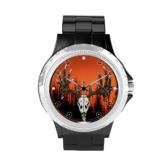Whitetail deer Skull 2 Wrist Watches