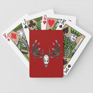 Whitetail deer skull 5 poker cards