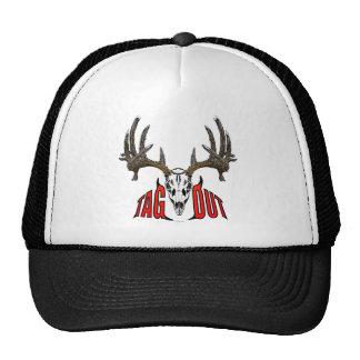 Whitetail deer skull mesh hat