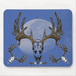 Whitetail Deer skull Mouse Pad
