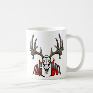 Whitetail deer skull coffee mugs